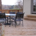A new cedar deck was constructed to this home in Villanova to take advantage of the beautiful rolling view.