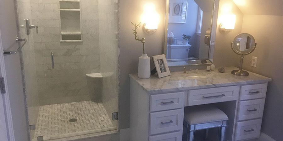 Rose master bathroom